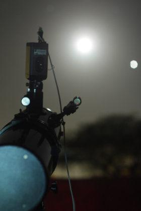 Equipamento usado para registrar o impacto lunar