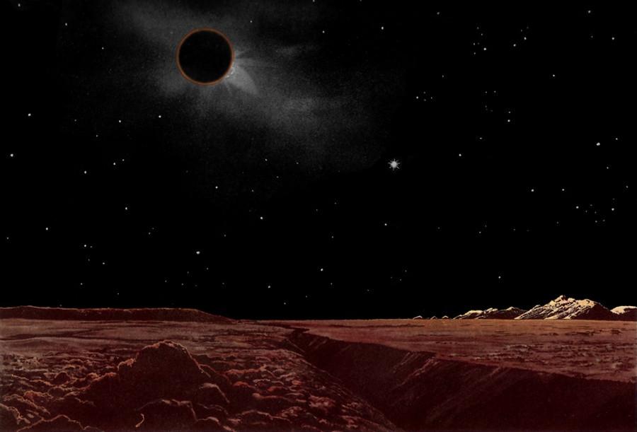 Eclipse Lunar Visto da Lua - Crédito: Lucien Rudaux