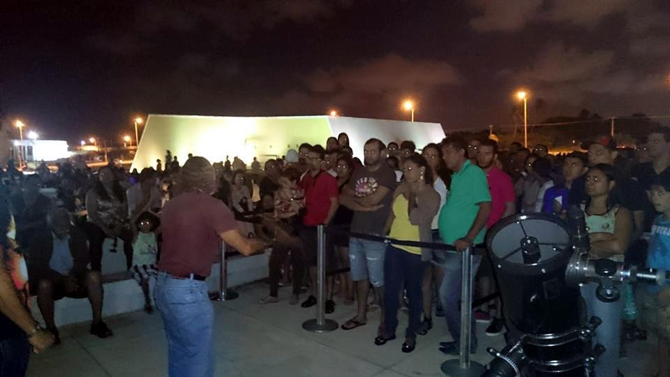 Observação do Eclipse Lunar em 2015 - Estação Cabo Branco