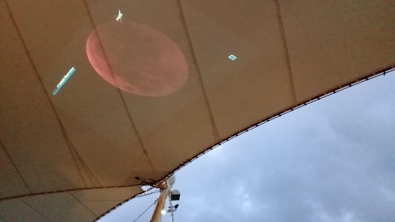 Projeção do Eclipse em Tempo Real - Foto: Tomaz Passamani
