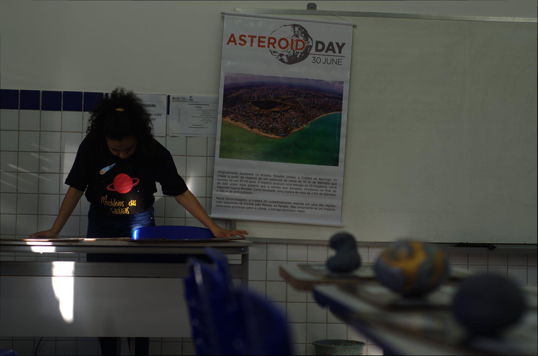 Exposição de modelos de asteroides