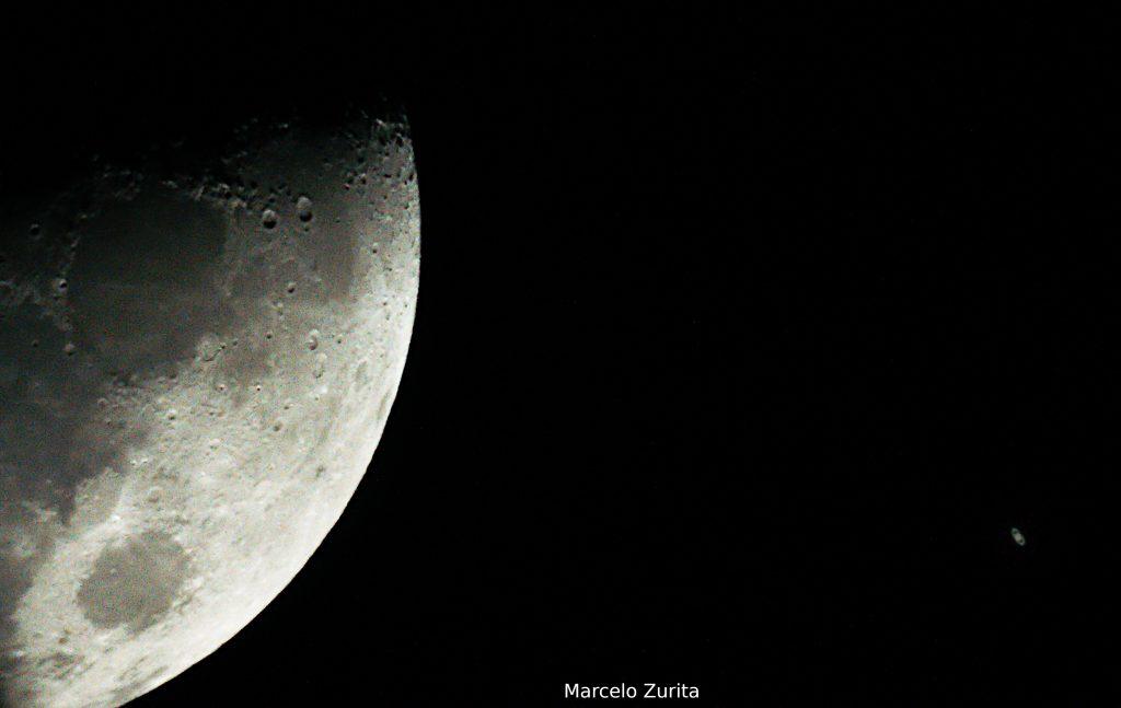 Conjunção Lua e Saturno - Foto: Marcelo Zurita