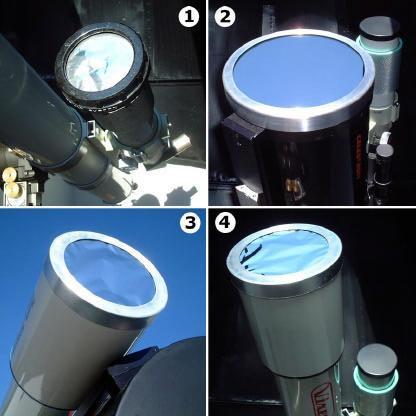 Telescópios com filtros especias para observação solar